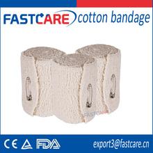 aprovado pela ce venda quente médica de puro algodão atadura elástica