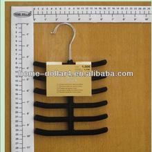 black plastic velvet hangers wholesale/metal hook for hanger/velvet metal hook