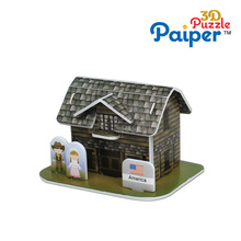 Fashion toys for kids 3d house puzzle model children games