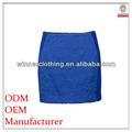 fábrica nuevo modelo elegante señoras falda azul marino