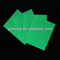 glow in dark PVC sheet/photoluminescent rigid PVC board