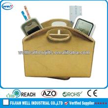 Handmade pu remote control holder organizer