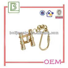variety arts brass binocular metal keychain