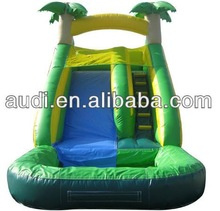 Tropical Tree Inflatable Slide with pool