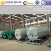horizontal gas fired boiler room for greenhouse