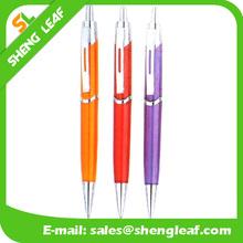 Fashion design Plastic ballpoint pen with metal clip