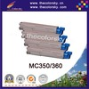 (CS-OC350) Color laser toner cartridge ceramic toner for OKI MC 350 360 43459376 43459375 43459374 43459373 (2.5k/2.5k pages)