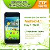 5 Inch Android ZTE V967S MTK6589 Quad Core Smartphone 3G WCDMA