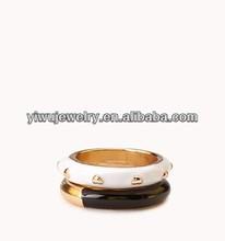 R798-019 gold enamel latest 2 pcs rivet finger rings set