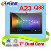 Hot Selling Dual Core Allwinner A23 Cortex A7 Android 4.2 Double Camera 7 inch Dual Core Tablet PC Q88,WIFI,USB Keyboard,Mouse