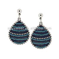 Rhinestone Earring Chandelier ,2014 Wholesale Cheap Gold Plating Fasion Jewelry ,Big Drop Earrings (SWTERCXT224)