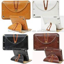 Fashionable Buttons Belt Clip Case For iPad Mini ,PU Leather Smart Case Cover For iPad Mini,Custom Soft Case For iPad Mini