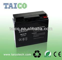 TAICO 12volt 17ah lead acid battery 12v solar storage battery
