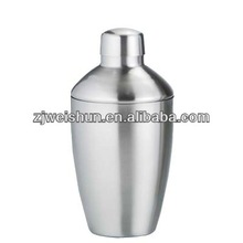 2014 simple short passing FDA standard cocktail shaker with metal outer