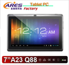 Hot Selling Dual Core Cortex A7 Allwinner A23 7 INCH Color Tablet Q88,Android 4.2 Dual Camera WIFI USB Keyboard U disk G-sensor