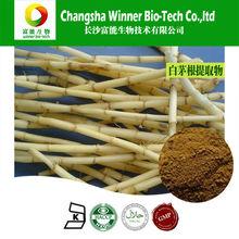 Imperatae rizoma extracto en polvo de color marrón 10:1 el estándar gmp