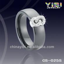 França cerâmica anéis de prata sexo com animais homens e mulheres de prata cerâmica anel de noivado