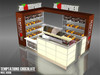 Retail mall shop fittings with display furniture