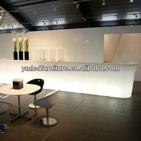 New Model Fantastic led bar table, Stainless steel base rechargeable illuminated led plastic bar table