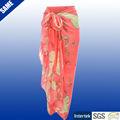 100% voile poliéster praia de bali sarong pareo