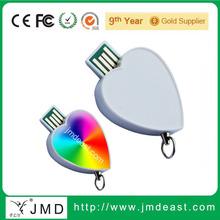 White heart shape usb flash drive