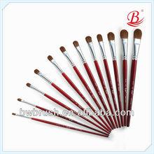 Kolinsky/Synthetic Blend Paint Brush,Artists Brushes,Gouache Brush(oval)