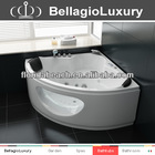 Double seat whirlpool bathtubs, corner bathtub hot sale, small round corner bathtub