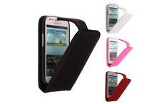 hot sale book style genuine leather flip phone case for Samsung galaxy S3 mini I8190