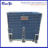 Galvanized wire mesh container with decking (manufacture)
