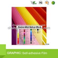PVC sapphire opaque vinyl film sticker 1.06*45.7M matte distributor