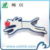 Hot sale 2gb pvc animal usb flash drive for Christmas gift