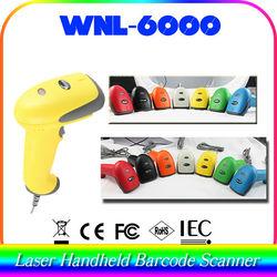 brand new color gun handheld scanner 1D wired laser WNL-6000 portable data identify