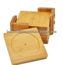 Bamboo/wooden cup coaster/pad/mat