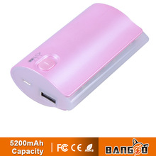 Portable power bank 5200mAh of business travel essential goods