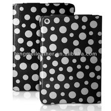 Ultra Slim Polka Dot Design PU Leather Flip Folio Case Cover For iPad Mini