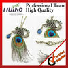 Low factory wholesale retro diamond peacock feather necklace HY-1252