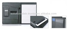 PU leather folder for iPad with calculator