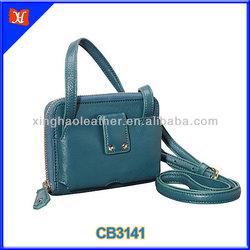 New arrival zipper wallet leather mobile phone shoulder bag genuine leather girl's crossbody bag