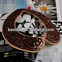 ladies 2014 glitter handmade beaded sequin collar necklace
