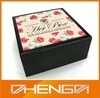 Hot!!! Customized China Lovely Floral Design Painting Wooden Jewelry Box For Celebration Gift(ZDW13-010)
