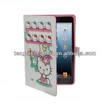 Hot Sells Lovely Hello Kitty Leather Case For Ipad Mini,Girl Cute Case For Ipad Mini
