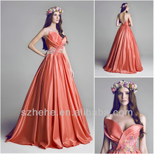 Free Shipping!!! CY1289 Charming Ball gown Appliques Sweep train 2014 western style prom dresses
