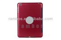 Leather Folio Cover Case Bluetooth Wireless Keyboard for ipad mini