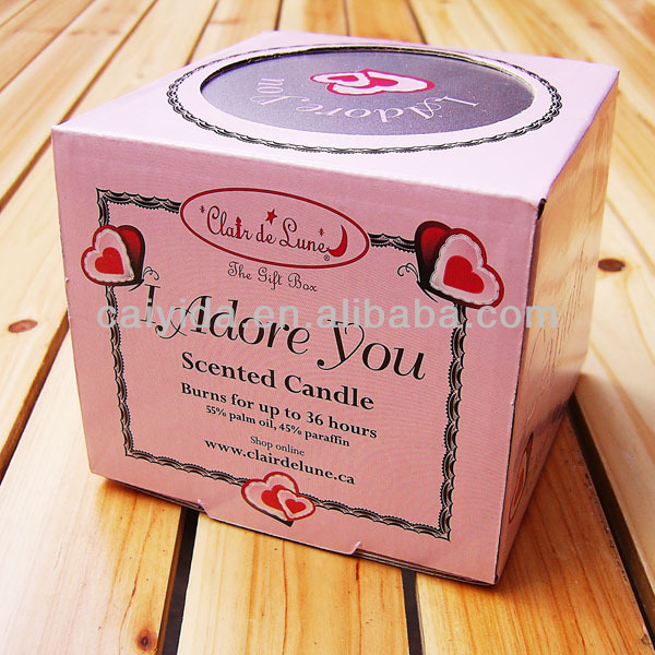 Cardboard Candle Packaging Customized Cardboard Candle