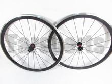 Aluminum brake surface 700c road bicycle carbon alloy wheelset(FSC38-CA)