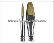 6PCS filbert head natural bristle hair artist famous painters paintings