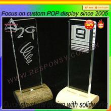 tabletop acrylic logo plate display acrylic branding display -ec