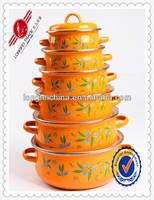 6 PCS Enamel Cast Iron Cookware/ Porcelain Enamel Cookware