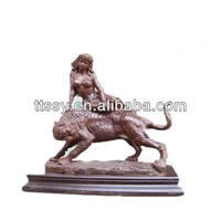 Bronze animal tiger statue