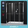 Elegante de vidrio de la pantalla de ducha puerta plegable bl-102